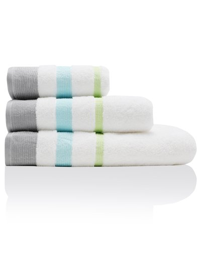 Pleat border towels