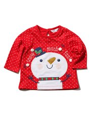 Sequin snowman t-shirt