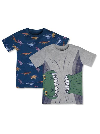 Dino t-shirts two pack (3-12yrs)