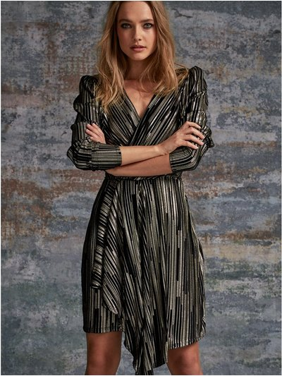 Sonder Studio foil pleat dress