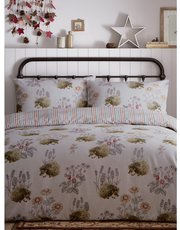 Brushed cotton hedgehog print duvet set