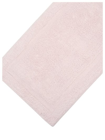 Pink cotton deep pile bathmat