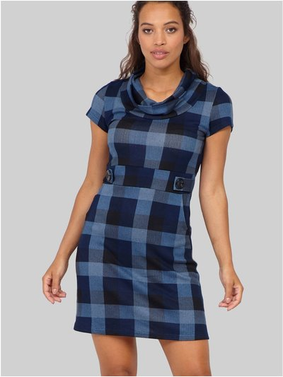 Izabel checked knit tunic dress