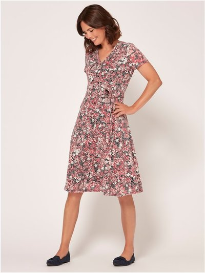 Spirit floral burnout wrap dress
