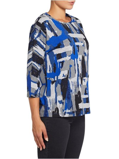 VIZ-A-VIZ geometric brush stroke top
