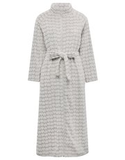 Heart zip front dressing gown