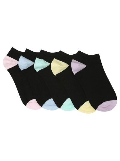 Black trainer socks five pair pack