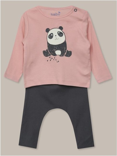Panda tee and leggings set (newborn-18mths)