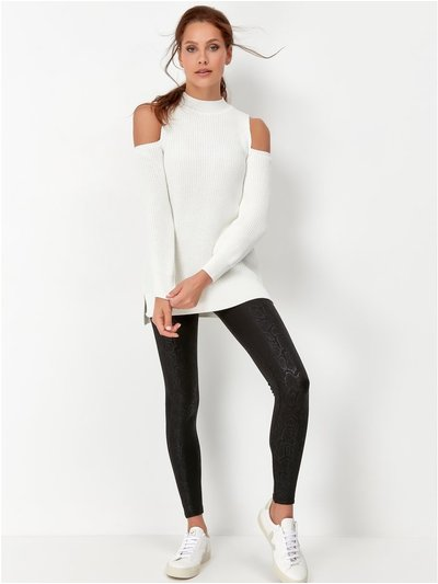 Sonder Studio croc faux leather leggings