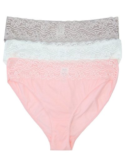 Lace trim brazillian briefs multipack