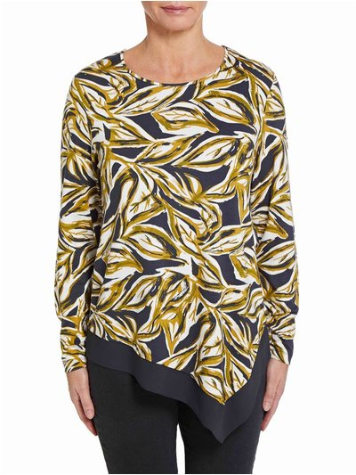 VIZ-A-VIZ jungle printed top