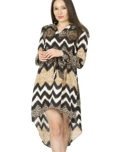 Izabel animal print dip hem dress