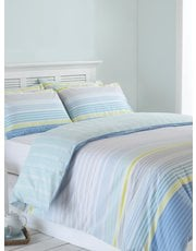 Coastal blue stripe duvet set