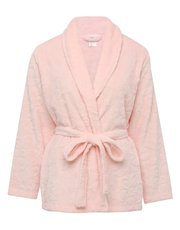 Short floral wrap dressing gown