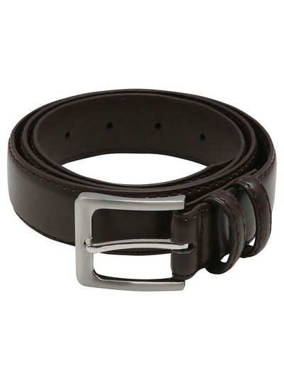 Brown faux leather belt