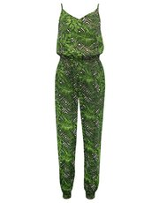 Teens' palm print jumpsuit
