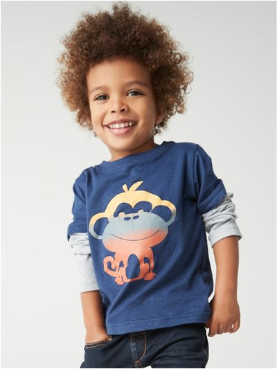 Gradient monkey t-shirt (9mths-5yrs)