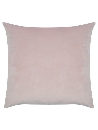 Rose pink velour cushion