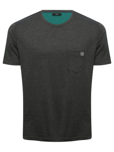 Short sleeve lounge top with chest pocket