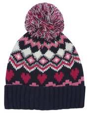 Fair isle pom pom hat (3-10yrs)