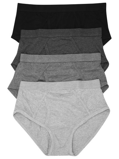 Pure cotton plain black briefs four pack