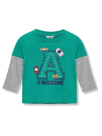 Awesome car long sleeve t-shirt (9mths-5yrs)