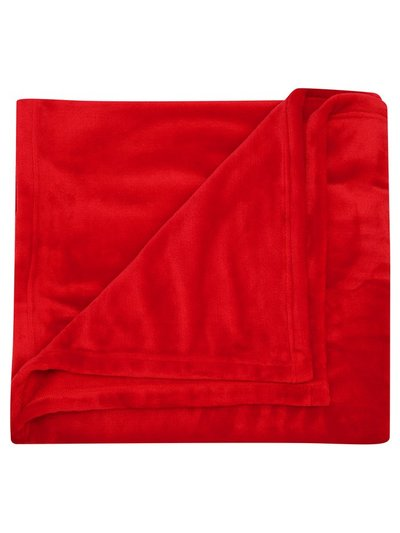 Large plush fleece throw