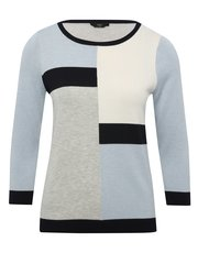 Petite colour block jumper