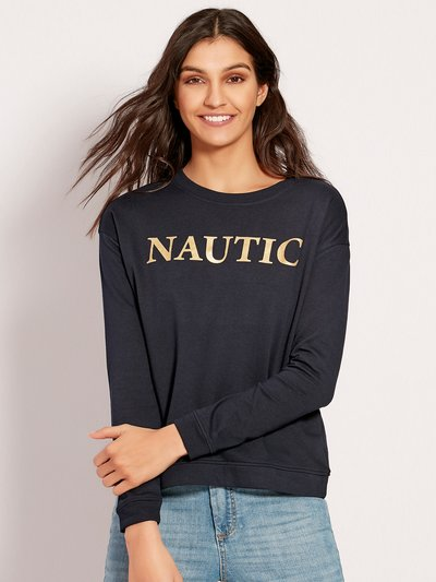 JDY nautic slogan sweatshirt