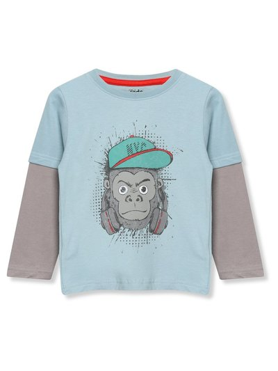 Long sleeve monkey t-shirt (3-12yrs)