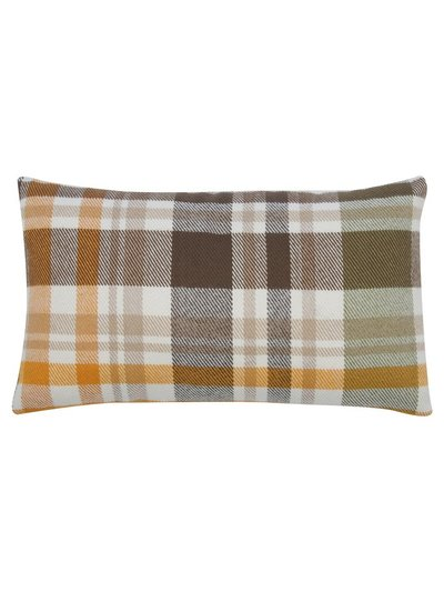 Green check rectangular cushion