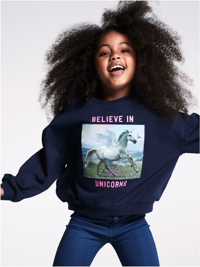 Holographic unicorn sweatshirt (3-12yrs)