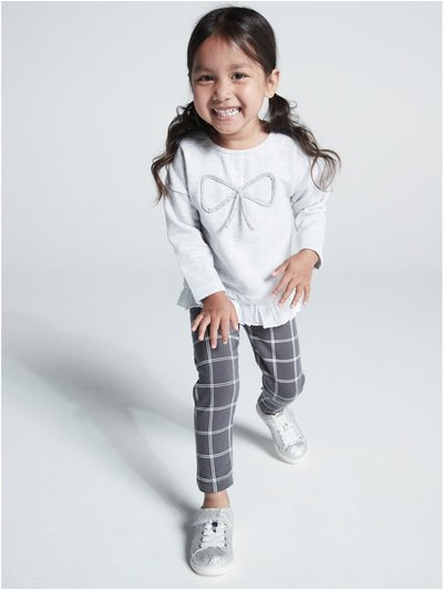 Frill trim top and check leggings set (9 mths - 5 yrs)