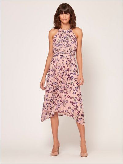 Floral print halterneck dress