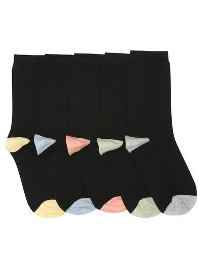 Coloured heel socks five pack