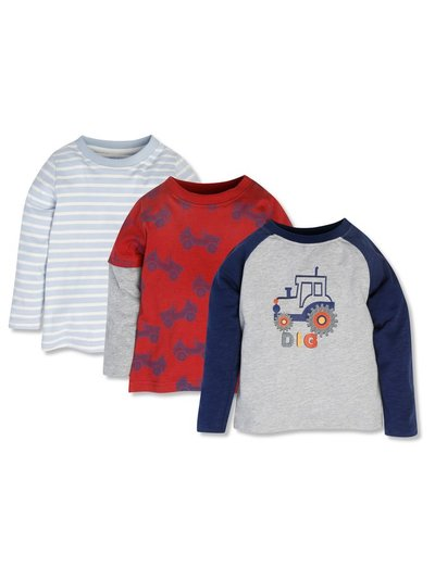 Long sleeve tops three pack (9mths-5yrs)