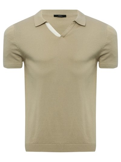Short sleeve knitted polo shirt