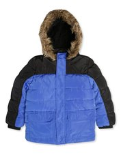 Fur trim padded coat (3-13yrs)