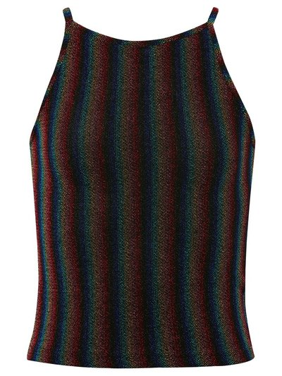 Teen rainbow lurex top