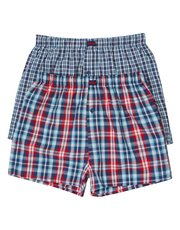 Jeep woven boxer blue check two pack