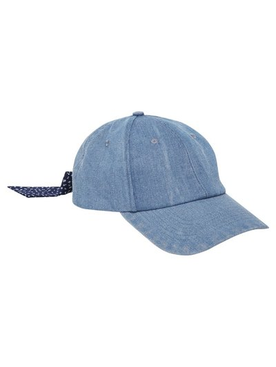 Teen bow back denim cap
