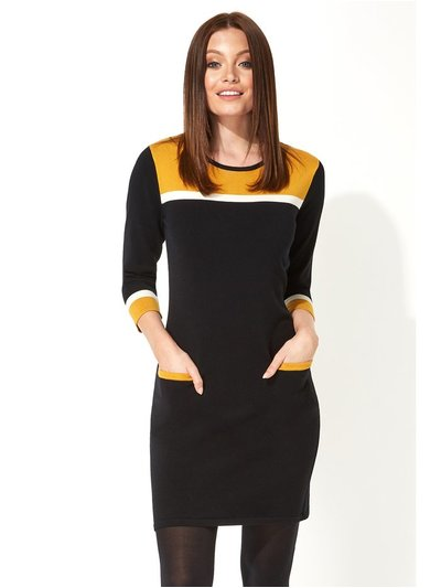 Roman Originals colour block knitted dress