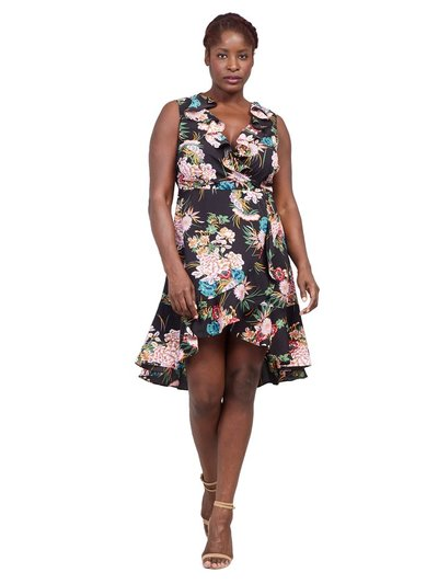 Izabel Curve floral wrap dress