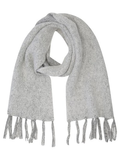 Shimmer brushed grey scarf