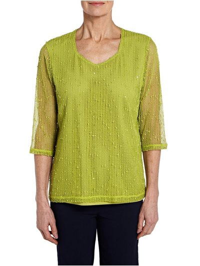 TIGI green mesh top
