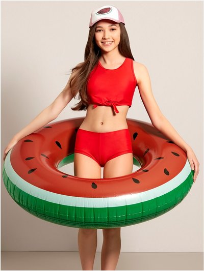 Watermelon inflatable donut