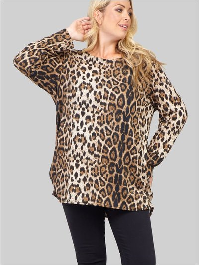 Izabel Curve animal print knit jumper