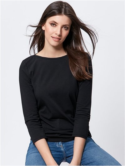 Slash neck top