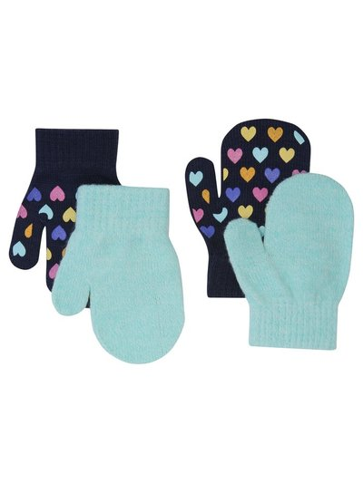 Rainbow heart mittens two pack