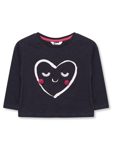 Pom pom love heart t-shirt (9mths-5yrs)